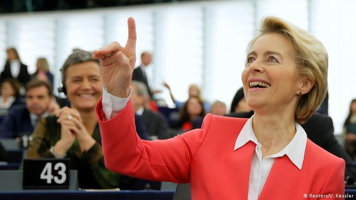 Sitzung Europäisches Parlament - Wahl EU-Kommission Ursula von der Leyen (Reuters/V. Kessler)