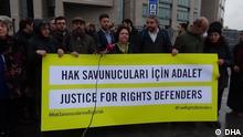 Prozess gegen den in der Türkei wegen Terrorvorwürfen angeklagten Menschenrechtsaktivisten (c) DHA
