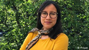 Dra. Azul Aguiar Aguilar, investigadora de la Universidad de Guadalajara, invitada por el GIGA de Hamburgo.