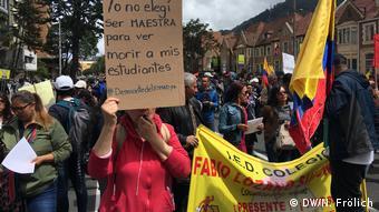 Kolumbien Generalstreik (DW/N. Frölich)