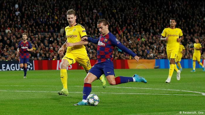 Champions League FC Barcelona v Borussia Dortmund   Tor Griezmann
