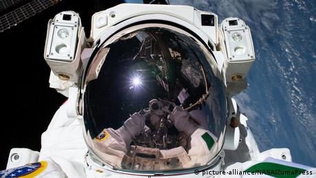 ESA Astronaut Luca Parmitano during a spacewalk