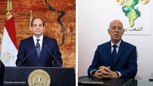 Bildkombo Präsident Abdel Fattah al-Sisi und Kais Saied Tunesien