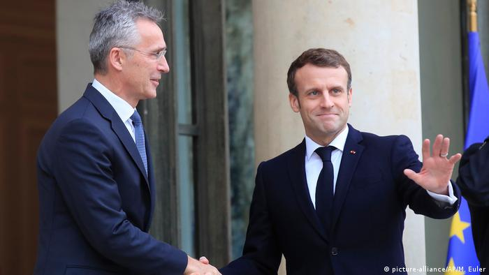 Paris Macron und Stoltenberg (picture-alliance/AP/M. Euler)