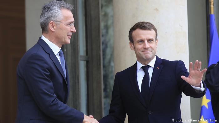 Paris Macron und Stoltenberg
