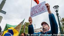 Demonstration gegen Bolsonaro in Den Haag Niederlande