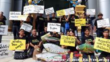 Thailand Bangkok Protest gegen Xayaburi-Staudamm von Laos