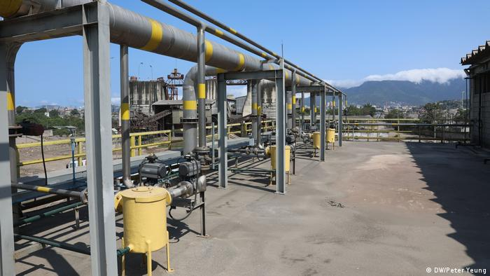 A pipeline transporting gas to be transformed into electricity