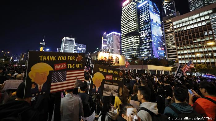 Proteste in Hongkong (picture-alliance/dpa/V. Thian)