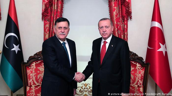 Türkei Istanbul   Libyens Premierminister al-Sarraj in Istanbul bei Erdogan