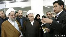Iraner Masoud Moulavi neben Ali Akbar Hashemi-Rafsanjani