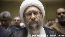 November 27, 2019, Tehran, IRAN: Iranian cleric SADEQ LARIJANI, former Judiciary Chief, attends the funeral of Ayatollah Seyed Abolfazl Mirmohammadi Zarandi, Member of the Assembly of Experts, at Noor mosque in downtown Tehran, Iran. (Credit Image: © Rouzbeh Fouladi/ZUMA Wire |