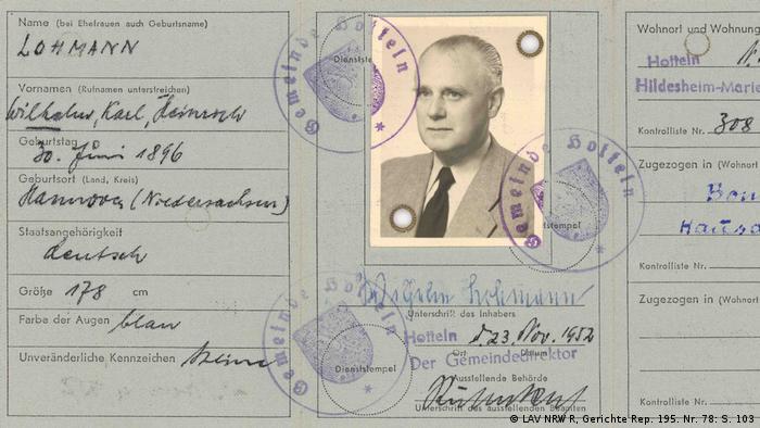Dowód osobisty na nazwisko Lohmann