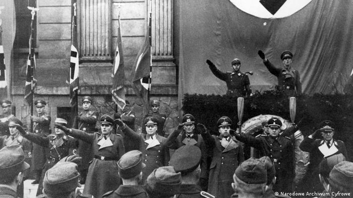 Uroczystości NSDAP w Krakowie z okazji rocznicy dojścia Hitlera do władzy (30.01.1944)