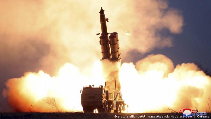 Испытания ракетного оружия в КНДР (фото из архива)