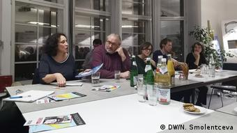 Российские и немецкие эксперты во время обсуждения цензуры в Рунете
