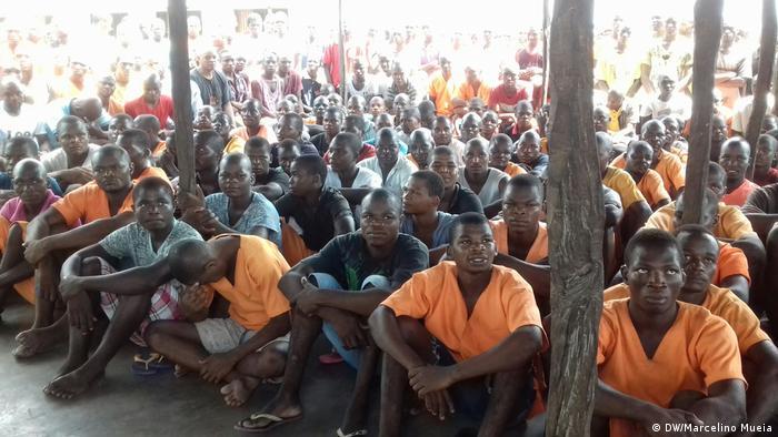A cadeia de Inhambane tem atualmente 800 reclusos.