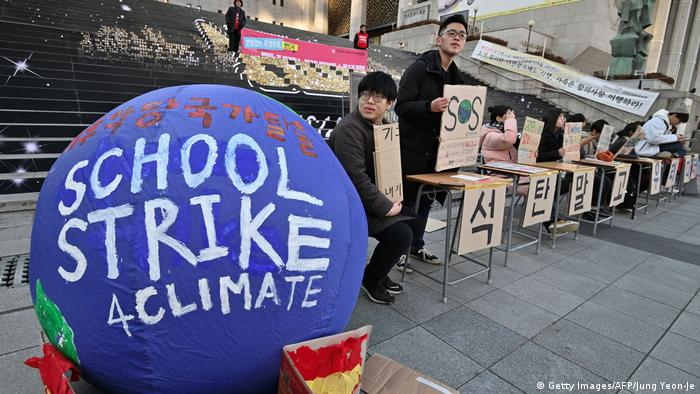 Südkorea Klimaprotest | Friday Climate Action Day (Getty Images/AFP/Jung Yeon-Je)