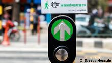 Bangladeschs Druckknopf-Signal