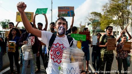 Indien Klimaprotest | Friday Climate Action Day (Getty Images/AFP/A. Sankar)