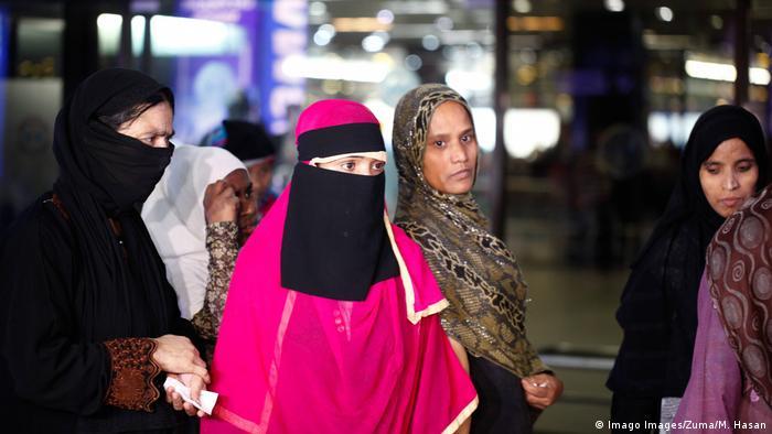 Bangladesch Dhaka Arbeiterinnen kehren aus Saudi-Arabien zurück
