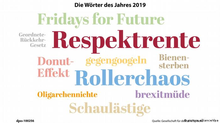 Words of the year 2019 Respektrente (picture-alliance/dpa)