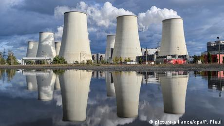A coal-powered plant in the German state of Brandenburg