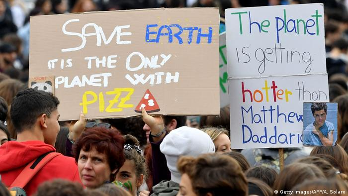 Italien Klimaprotest | Friday Climate Action Day (Getty Images/AFP/A. Solaro)
