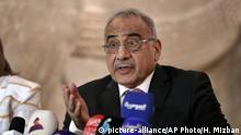 Irak Ministerpräsident Adel Abdel-Mahdi