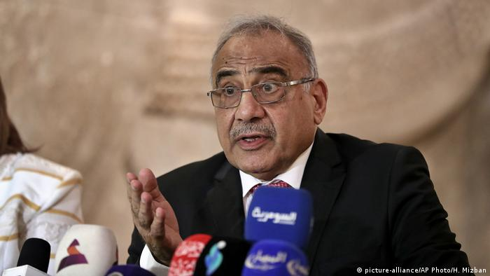 Irak Ministerpräsident Adel Abdel-Mahdi (picture-alliance/AP Photo/H. Mizban)