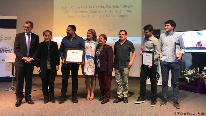 Aspecto de la ceremonia de premiación en la Ciudad de México