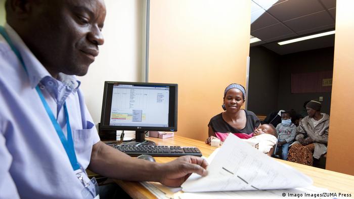 An administrative worker at the Baylor College of Medicine International Pediatric AIDS Initiative, Rio de Janeiro, Brazil