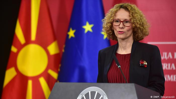 Radmila Sekerinska, Vertedigungsministerin, Nord-Mazedonien