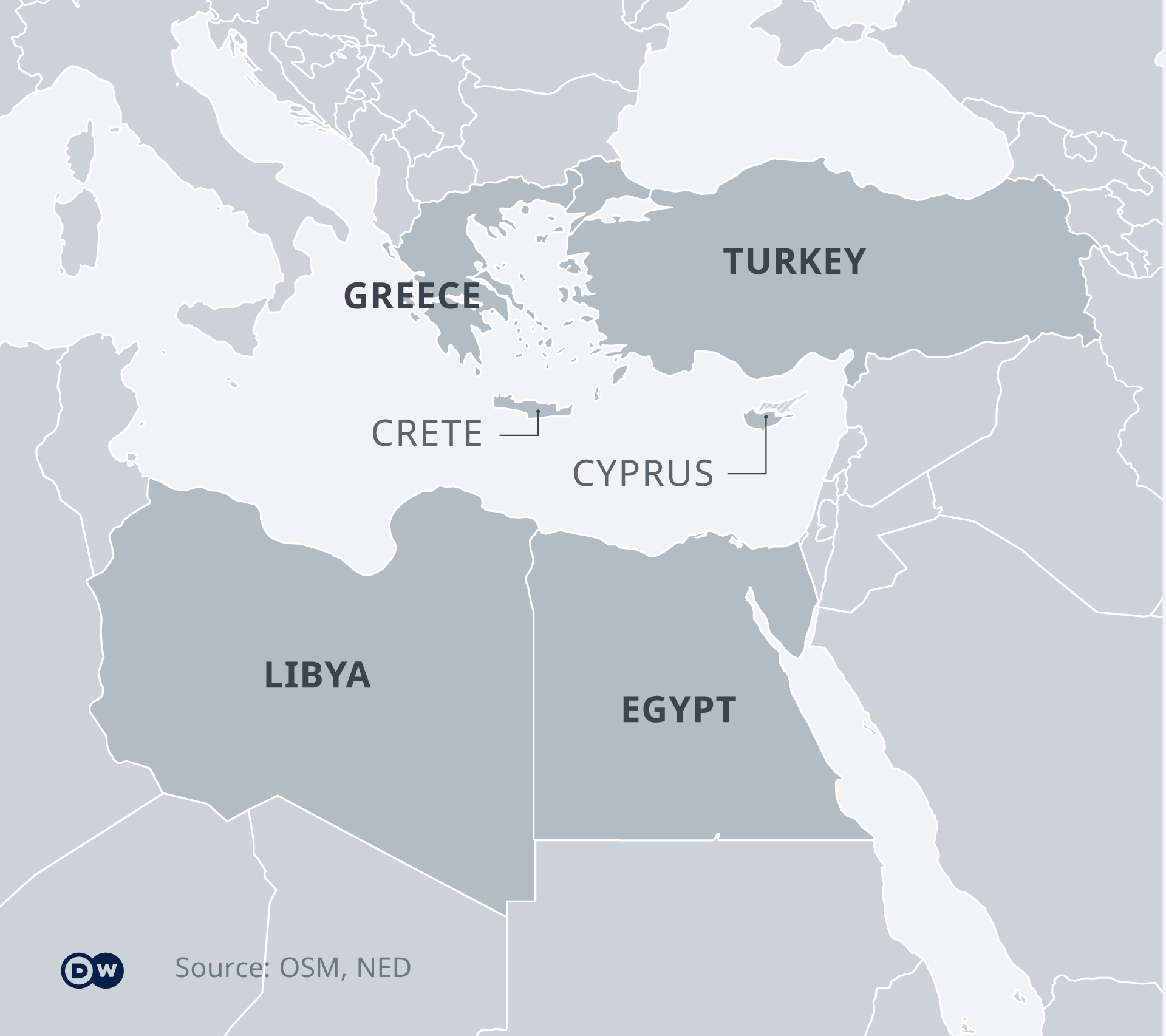 turkey and egypt map Turkey Libya Maritime Deal Triggers Mediterranean Tensions