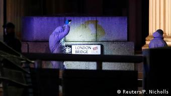 England London Bridge Schießerei   Spurensicherung