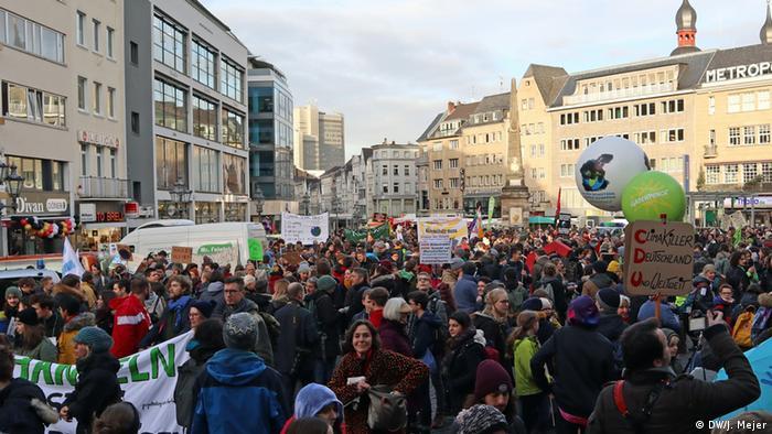 Demonstracja w centrum Bonn: piątek dla klimatu