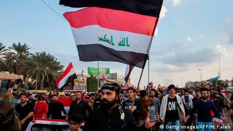 Irak Proteste gegen Regierung in Basra (Getty Images/AFP/H. Faleh)