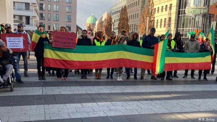 Protest gegen Jawar Mohammed in Nürnberg (B. Belay )