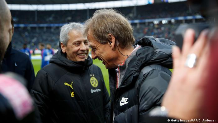 Fußball Bundesliga | Hertha BSC vs. Borussia Dortmund | Trainer Favre & Klinsmann