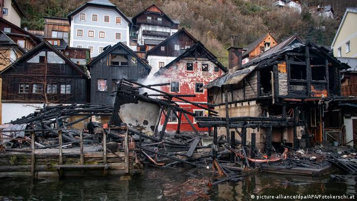Aftermath of the fire in Hallstatt