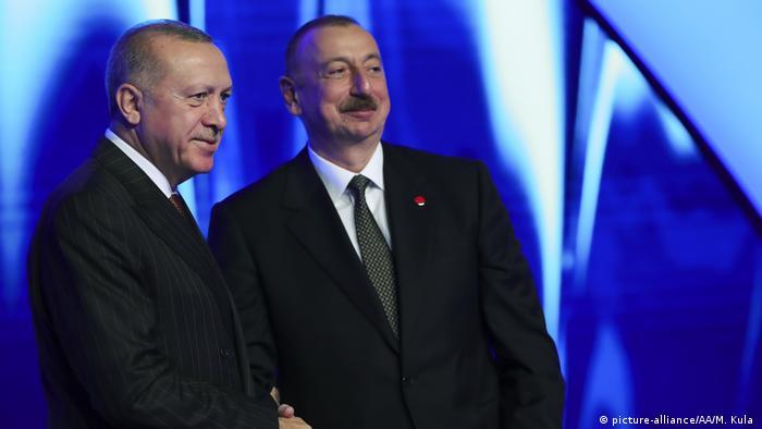 TANAP-Europe connection | Türkeis Präsident Recep Tayyip Erdogan und Azerbaijans Präsident Ilham Aliyev