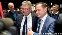 Deutschland Braunschweig AfD Bundesparteitag | Joerg Meuthen & Tino Chrupalla