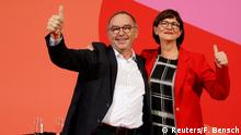 Deutschland Berlin SPD | Saskia Esken & Norbert Walter-Borjans, Sieger Mitgliederentscheid
