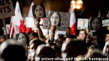 Malta Protest vor Büro von Premierminister Jospeh Muscat in Valetta