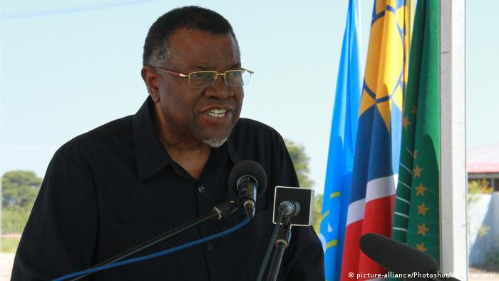 Namibia Präsident Hage Geingob in tadt: Windhuk
