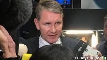 30/11/2019 ** Björn Höcke auf dem PT in Braunschweig im Gespräch mit der Presse