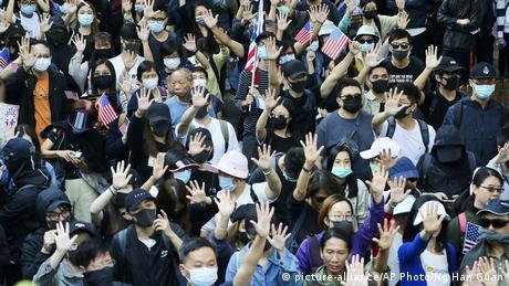 China Hongkong Proteste (picture-alliance/AP Photo/Ng Han Guan)