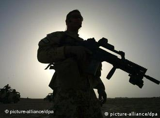 Silhoutte of soldier in Afghanistan