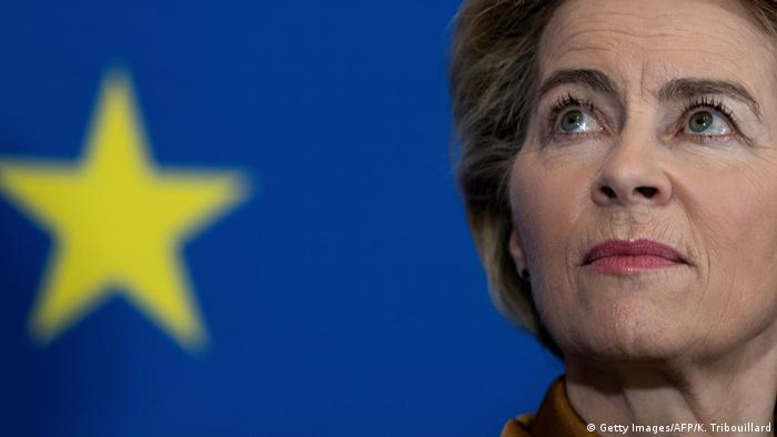 Von der Leyen in Brussels (Getty Images/AFP/K. Tribouillard)