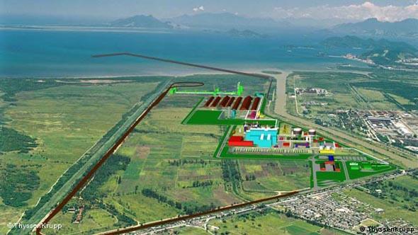 Baufortschritt Bucht von Sepetiba Brasilien Rio de Janeiro ThyssenKrupp